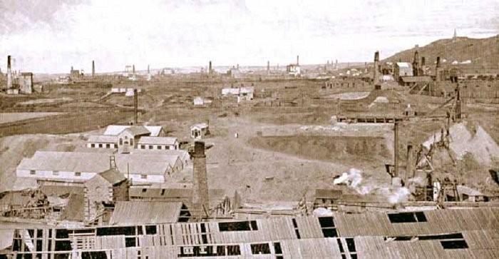 Cornish tin industry at Tucking Mill, between Redruth and Camborne c.1912
