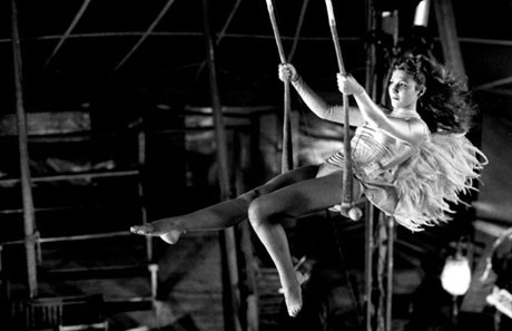 Solveig Dommartin playing Marion in Wings of Desire