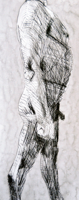 Kouros Walk II 2009 (Ink) (30x21)
