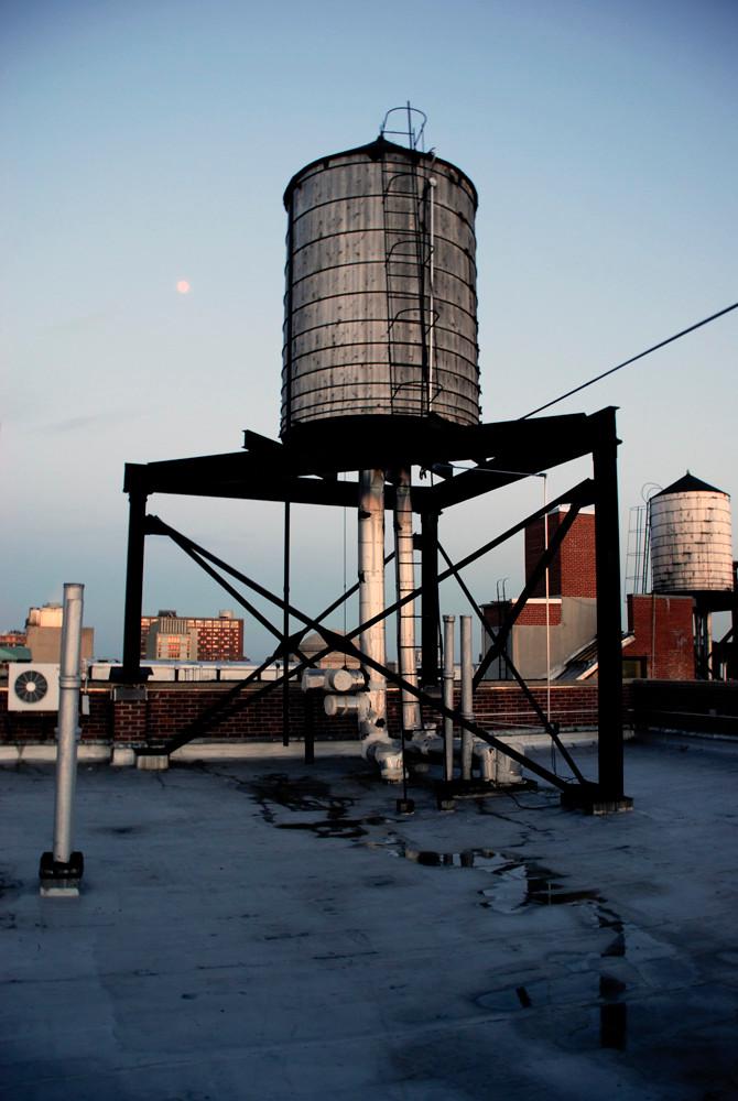 Water tank, Riverside Drive on the Upper West side