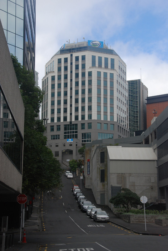Fonterra Co-operative Group Hq, Auckland CBD. It is the lworld's largest exporter of dairy products and owned by 13,000 farmers. 2015 interim revenue NZD 9.7bn - down 14%. .