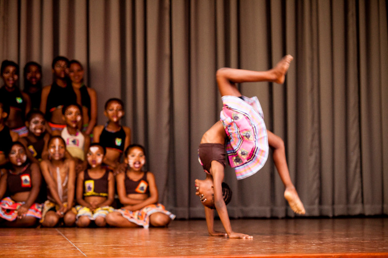 Public performance by Jikeleza's young dancers