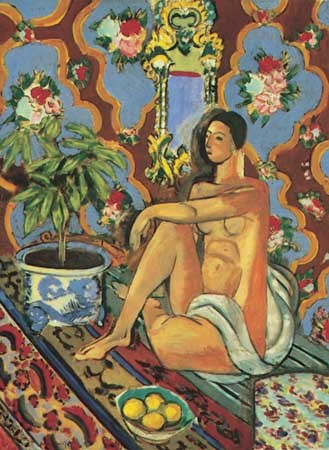 Decorative Figure on an Ornamental Background, oil painting by Henri Matisse, 1925–26; in the National Museum for Modern Art, Paris.