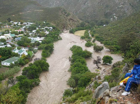 Recent floods that cut of West Montagu (Source unknown)