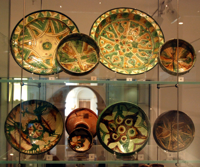 Glazed pottery from Cyprus and Syria, 1300-1400 at the Ashmolean Museum, Oxford