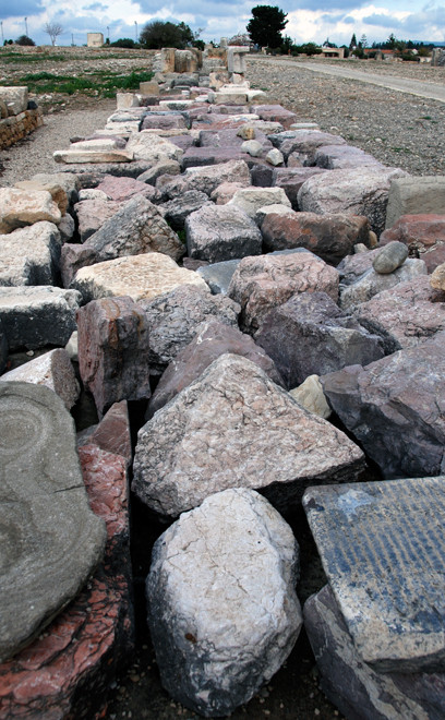 Stone remnants at Aphrodite's Sanctuary (Kouklia, January 2013).