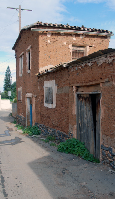 Abandoned mud brick house, Peristerona