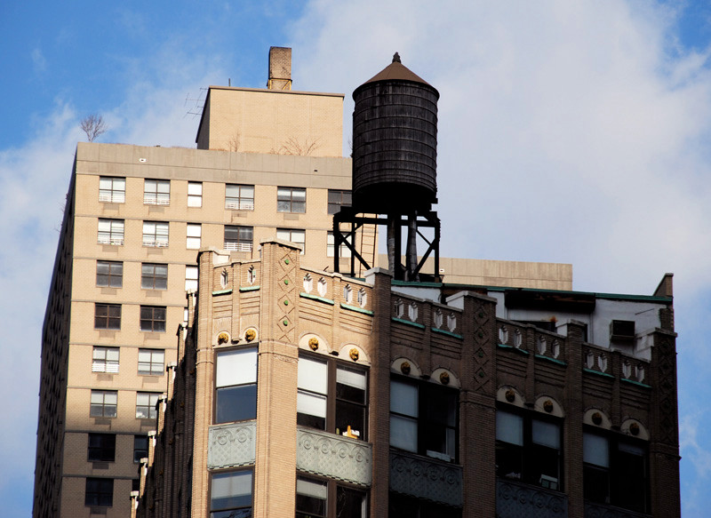 Water tower near Time Square