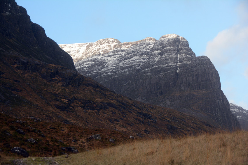 Na Ciochan from Loch Coire nan Arr on the Bealach descent.