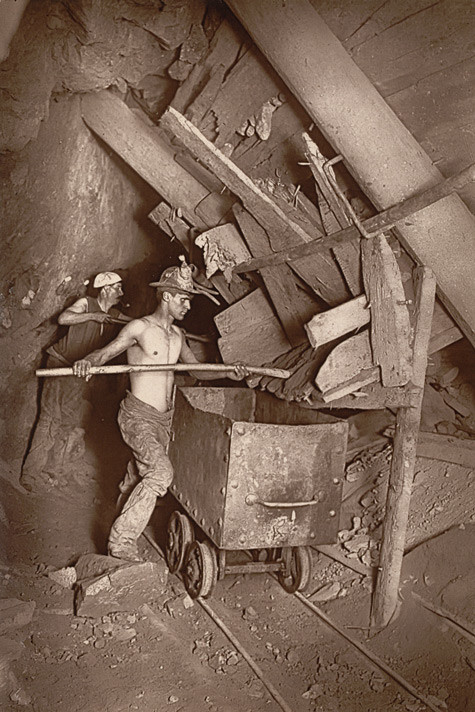 Cornish Miners, Dolcoath mine, 1893. Source: British Library
