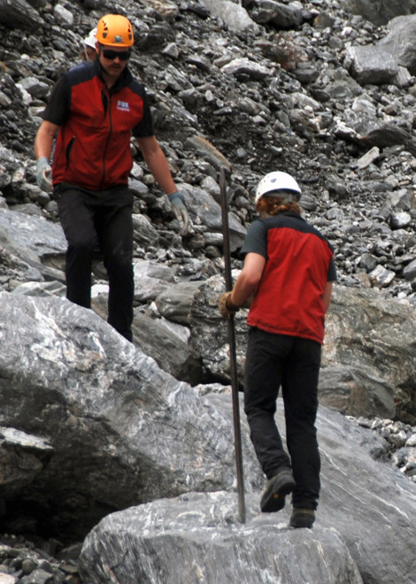 'Who gives a schist?', as they say up on the moraines of the Fox Glacier.