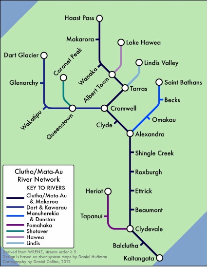 Graphic representation of the Clutha/Mata-Au catchment by Daniel Collins (click photo for link to his blog)t