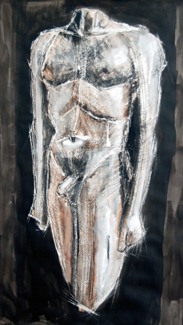 Kouros IV 2009 (Ink Chalk Gouache) (70x50) Fergus Murray