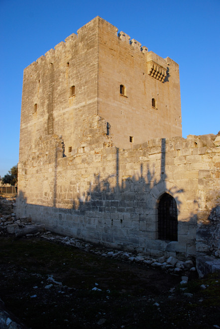 The castle of the Knights Hospitaller at Kolossi: head-quarters of the Grande Commanderie from which Commandaria derives it name, January 2013.