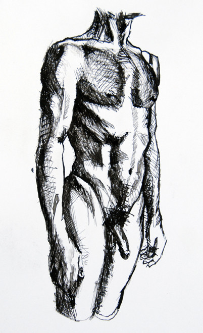 Standing: Anatomy Study V (ink) Fergus Murray