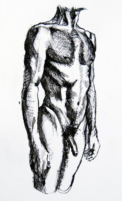 Standing: Anatomy Study V (ink) Fergus Murray
