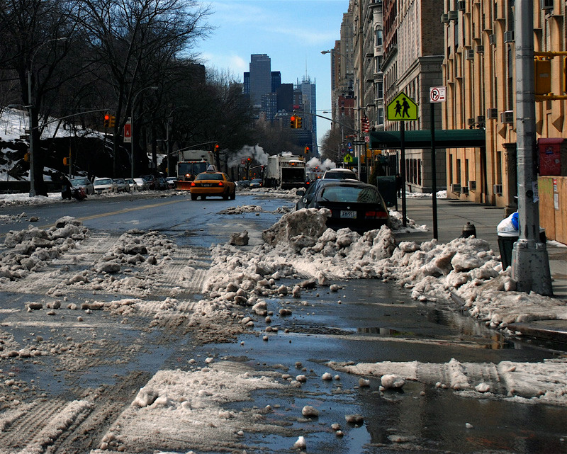 Ice clearing on Central Park West