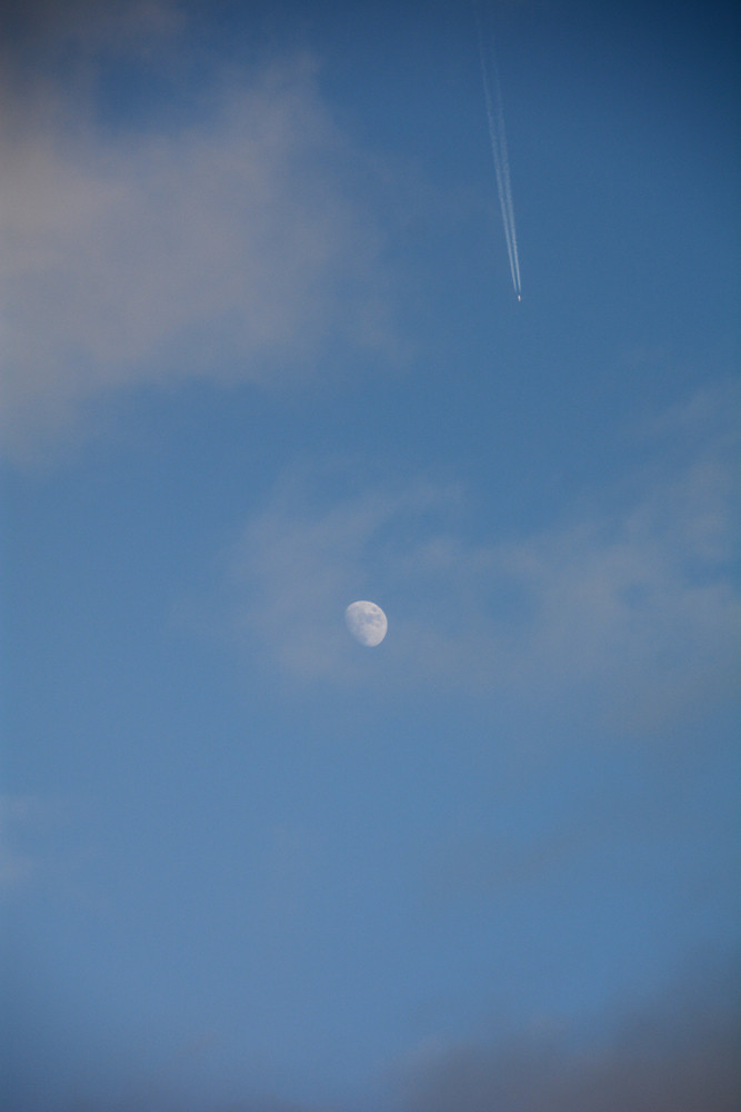 Russian Moon (after the visit of Russian Bombers)