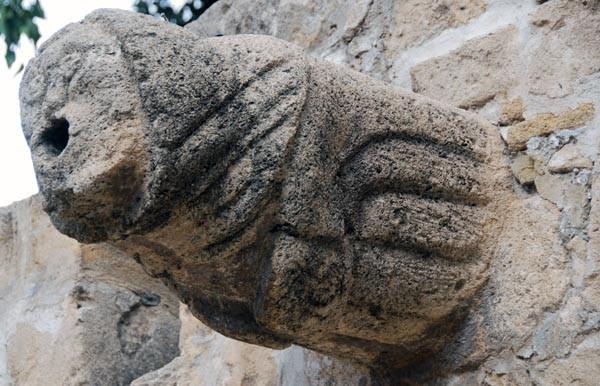 13th Century Roman Catholic gargoyle from Ayía Sofí - (calcarenite) Lapidary Museum  Nicosia