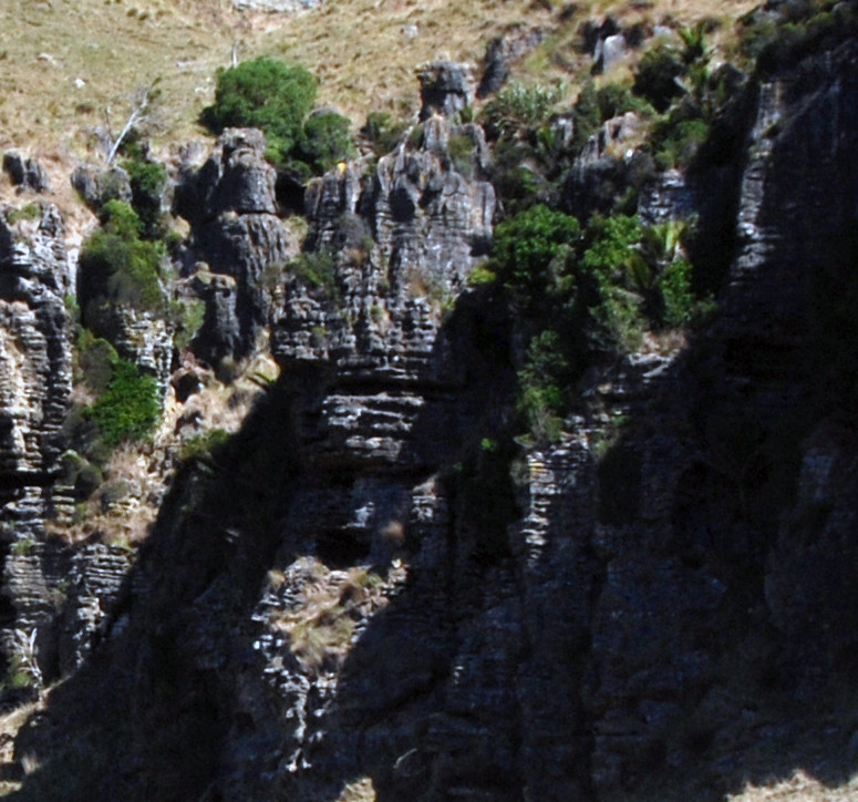 Detail of photo above where  horizontal and vertical erosion are visible with developing grykes.