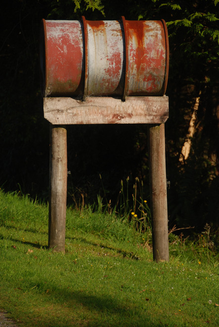 Parcel and mail box on the road to Whataroa from Fox Glacier.