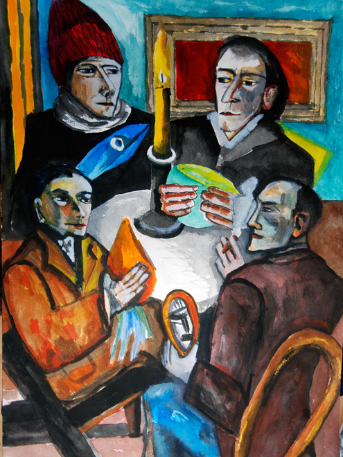Study of Max Beckmann's 'The Artists with Vegetable's 1943 (2008) (Watercolour) (52x34) Fergus Murray