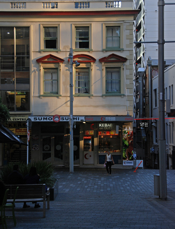 Remnants of earlier architecture in Auckland's CBD.