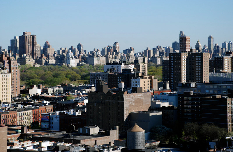 View from the Upper West side looking South East over Central Park