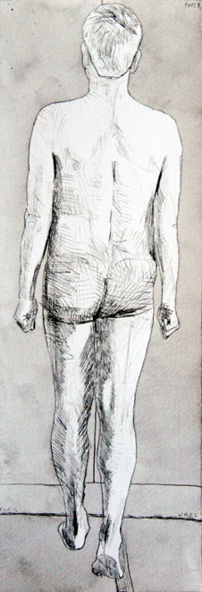 Confrontation IV (pencil and ink wash)
