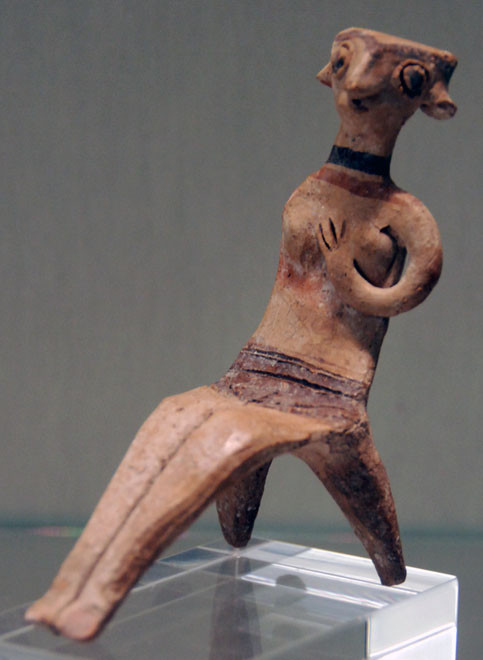 Figurine of Seated Nude Woman (Astarte type) 13th century BC, Pierides Collection Nicosia