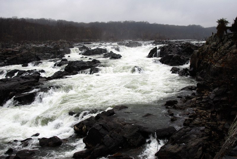 Great Falls on a cold day at the end of March, 2008