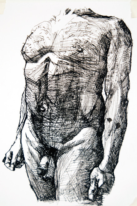 Kouros Walk 2 2009 (Ink) 36x20) Fergus Murray