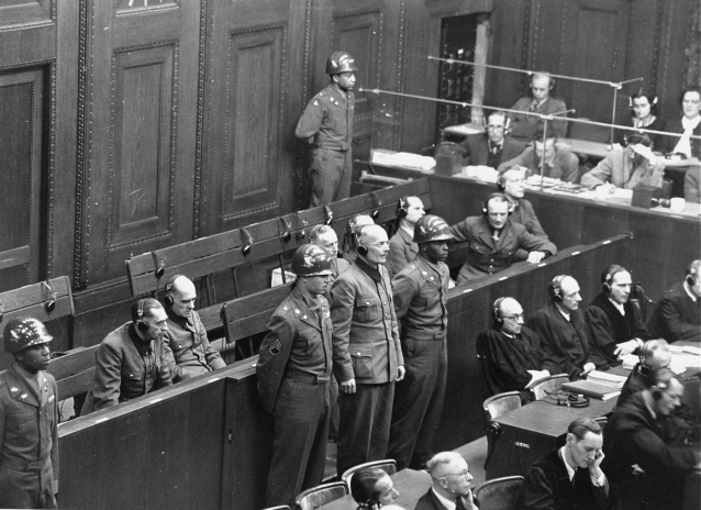 Defendant General Lothar Rendulic is sentenced to twenty years in prison by the Military Tribunal V during the Hostage Case, 19th February 1948 (USHMM, http://collections.ushmm.org/search/catalog/pa1058584).