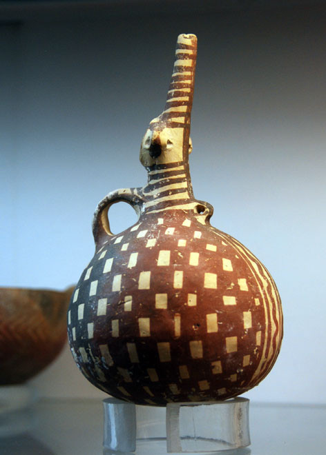 Beautiful red-ware vessel, Museum of Cyprus, Nicosia.