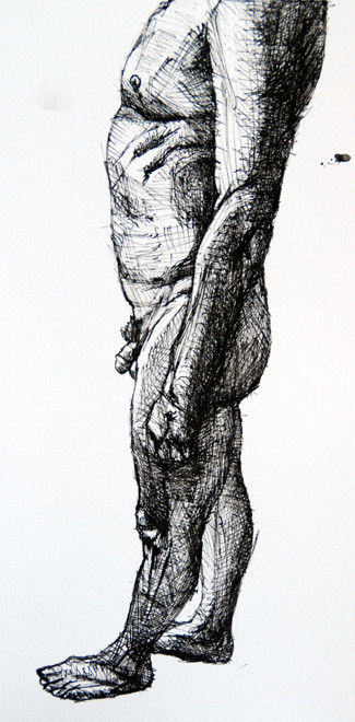 Feet on the ground (ink) Fergus Murray