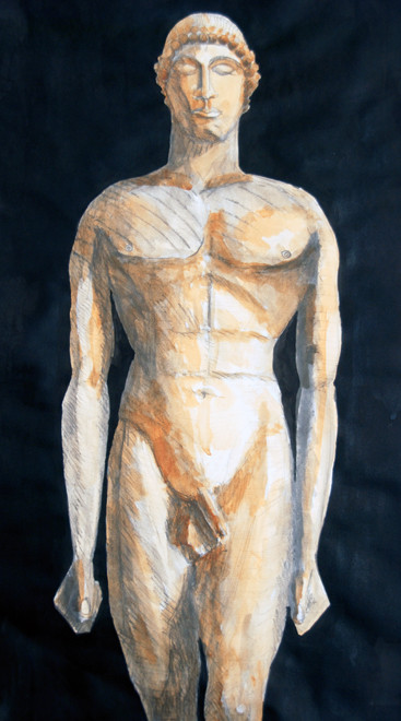 Kouros 2 2009 (Charcoal and Gouache) (70x50) Fergus Murray