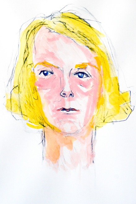 Marta Husemann, 23 September 1942 Gestapo Zentrale, Berlin II (2008) (Watercolour and Pencil) (30x20) Fergus Murray