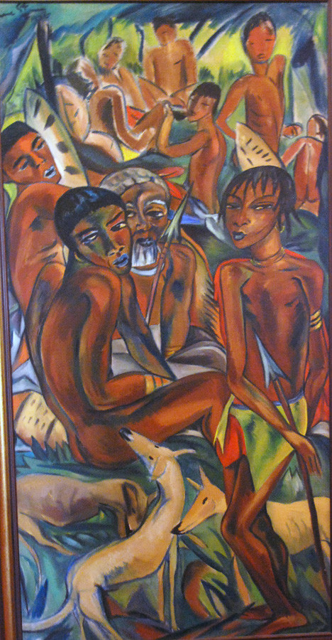 The Hunt, painted in Swaziland or Natal, 1926, Irma Stern, Irma Stern Gallery  - a seminal work that bears a debt to German Expressionsim and Ernst Ludwig Kirchner