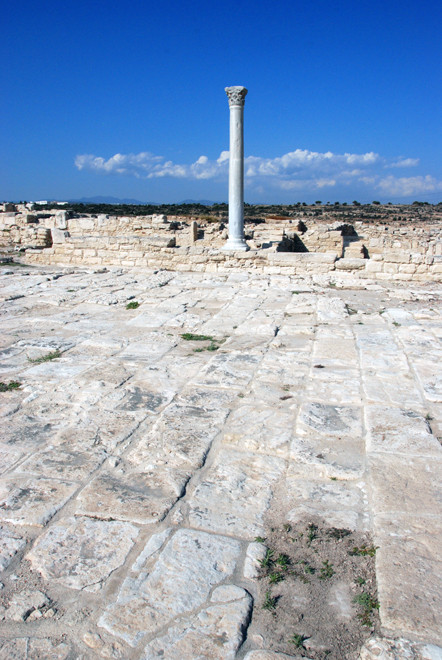 Remains of the 5th century basilica at Kourion, destroyed in the second Arab raid of 654AD (May 2012).