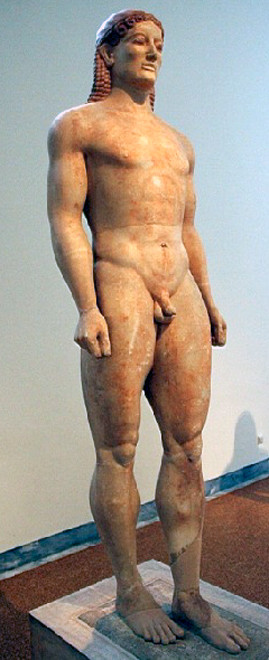Kroisos kouros, C 530BC marble, National Archaeological Museum of Athens