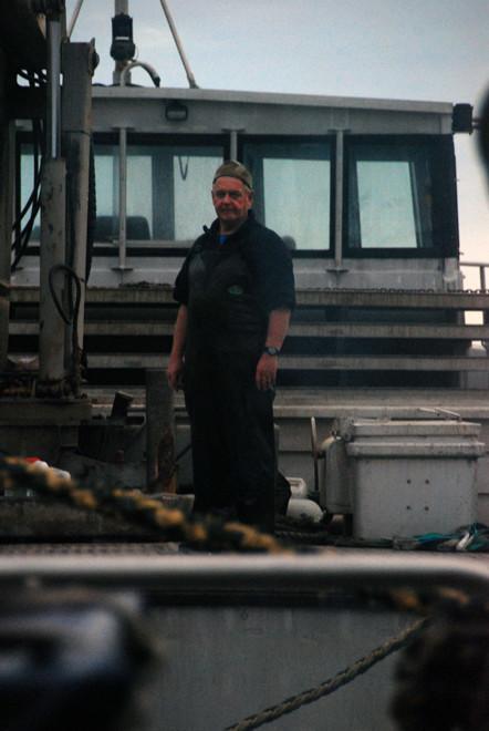 Deck hand, Stewart Island Ferry Terminal.