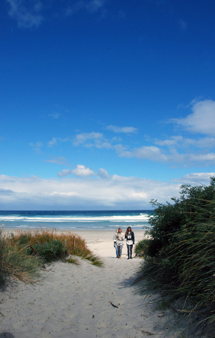 The vastness of ocean and sky on the Otago Peninsula: Allans Beach