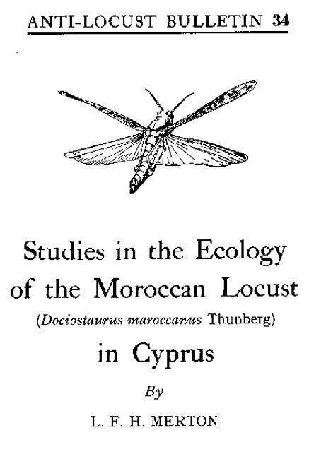 The 1959 report by LFH Merton from the Anti-Locust Research Centre in London