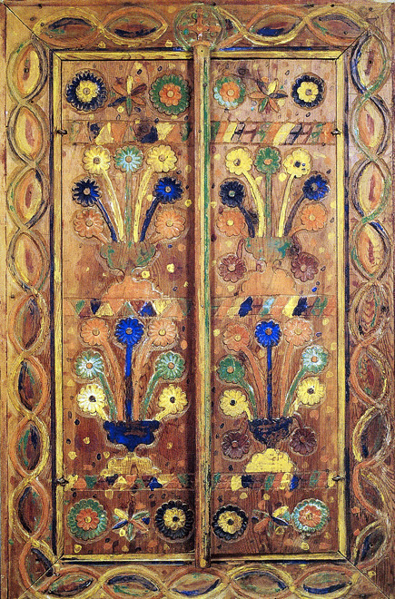 Detail of painted wardrobe, 19th century  Folk Art Museum, Nicosia.