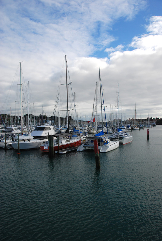 The Marina at Hobbs Bay on the Whangaparaoa Peninsula. The Tiritiri Ritangi Ferry calls here befroe the short hop to the island which sits at the end of the peninsula