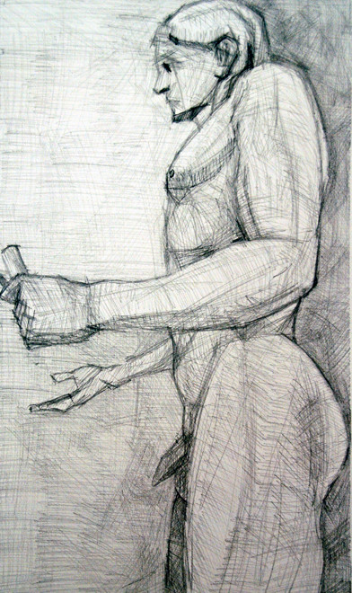 Kouros 3 2009 (Pencil) (54x33) Fergus Murray