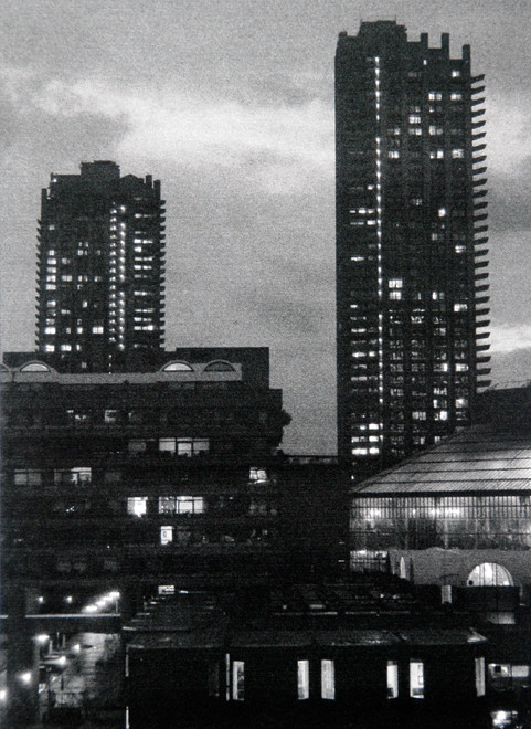 Shakespeare and Lauderdale Towers at dusk 2006 (Digital print on fine art paper)  (22x17) Fergus Murray