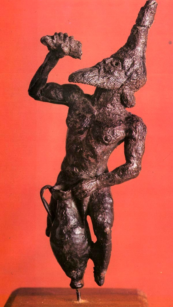 Bronze statuette of a satyr, Kourion 5th Century BC Cyprus Museum, Nicosia (Scan)