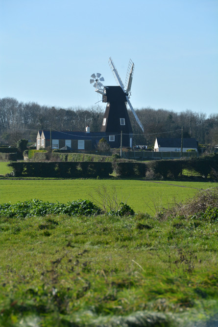 All those things that I've thought about taking a photo of had to be photoed today. The Windmill on the way back from Deal.