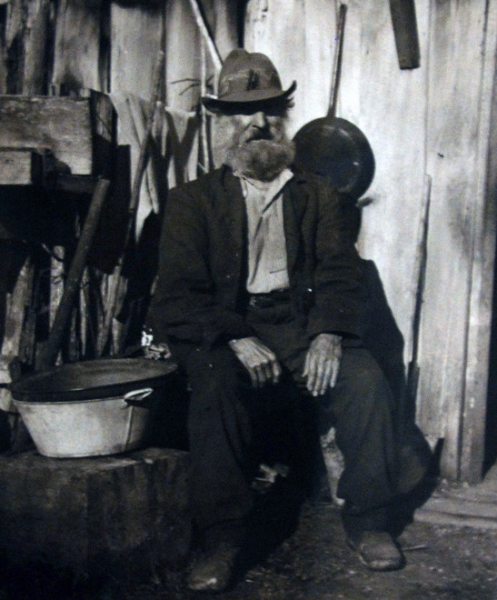 'Old George'  Wiltshire - a hatter -living on Lake Kaniere Road behind Hokitika (Hokitia Museum no date)d